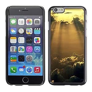 Caucho caso de Shell duro de la cubierta de accesorios de protección BY RAYDREAMMM - iPhone 6 - Sunshine Nubes Glow