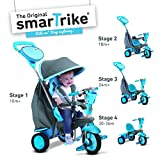 smarTrike Swing 4-in-1 Baby Trike Light-Weight 12 pound With Padded Seat Foot Rest Quiet Ride Wheels Cup Holder Storage Bag Canopy