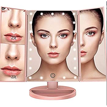 Amazon Com Liuy Makeup Mirror 22 Led Vanity Mirror With Lights 1x 2x 3x Magnification Touch