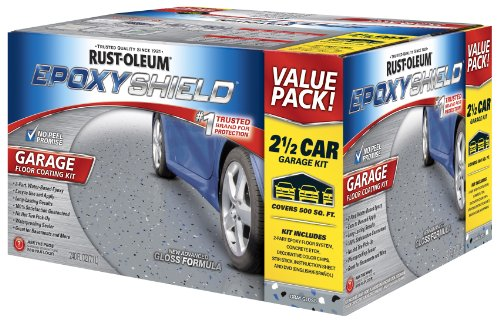 Rust-Oleum 261845 EpoxyShield  Garage Floor Coating , 2 gal, Gray (Kit Concrete Stain)
