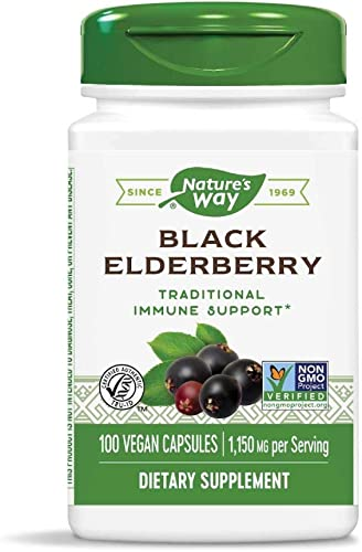 Nature s Way Elderberry, 100 Cap, Pack of 2