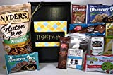 Gluten Free Dairy Free Gift Box Basket - Yummy Treats! - Over 2.5 Pounds - For Birthday, College, Military, Care Package, Thinking of You, Get Well, Christmas, Valentine's Day, More!
