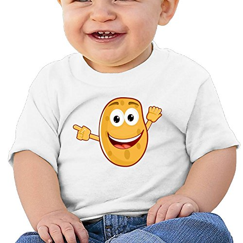 Chengrangst Cartoon Potatoes Toddler/Infant Short Sleeve Cotton T Shirts White 12 - Uk Triathlon Packages