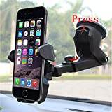 Universal Car Mount Holder Phone, Manords Long Neck One Touch Cell Phone Holder Compatible iPhone XS X 8 8Plus 7 7s 6s Plus 6s 5s 5c Samsung Galaxy S9...