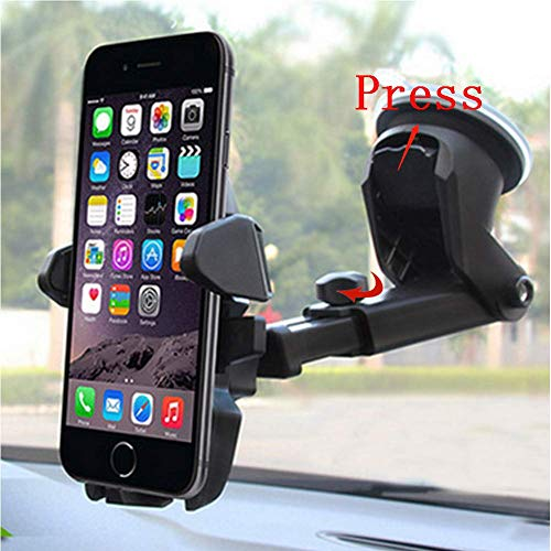 Universal Car Mount Holder Phone, Manords Long Neck One Touch Cell Phone Holder Compatible iPhone XS X 8 8Plus 7 7s 6s Plus 6s 5s 5c Samsung Galaxy S9 S8 ()