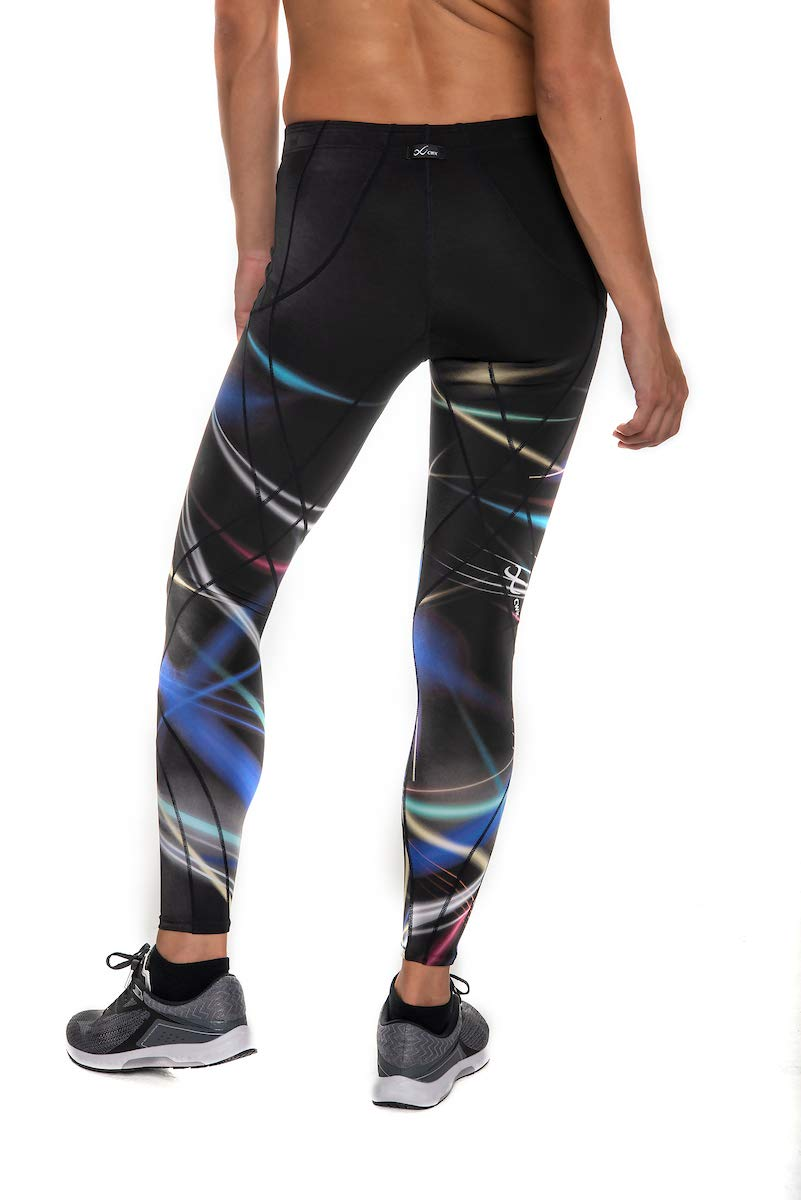 CW-X Endurance Generator Full Length Compression Tights, Laser Flash Print, Large by CW-X (Image #2)