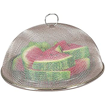 Fox Run Brands 6311COM Chrome Mesh Food Cover, 11.75 x 11.75 x 5 inches, Silver