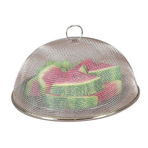 - Fox Run Brands 6311COM Chrome Mesh Food Cover, 11.75 x 11.75 x 5 inches, Silver