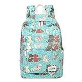 Cheap Moonwind Cat Women Travel Backpack for Teen Girls in Middle High School Book Bag (Cat, Water Blue)