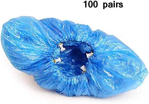 実用的な靴カバー、100ペアの自動靴カバー用使い捨て靴カバーマシン/ディスペンサー屋内屋外フローリング靴の保護ホームオフィス請負業者に適しています工場研究所