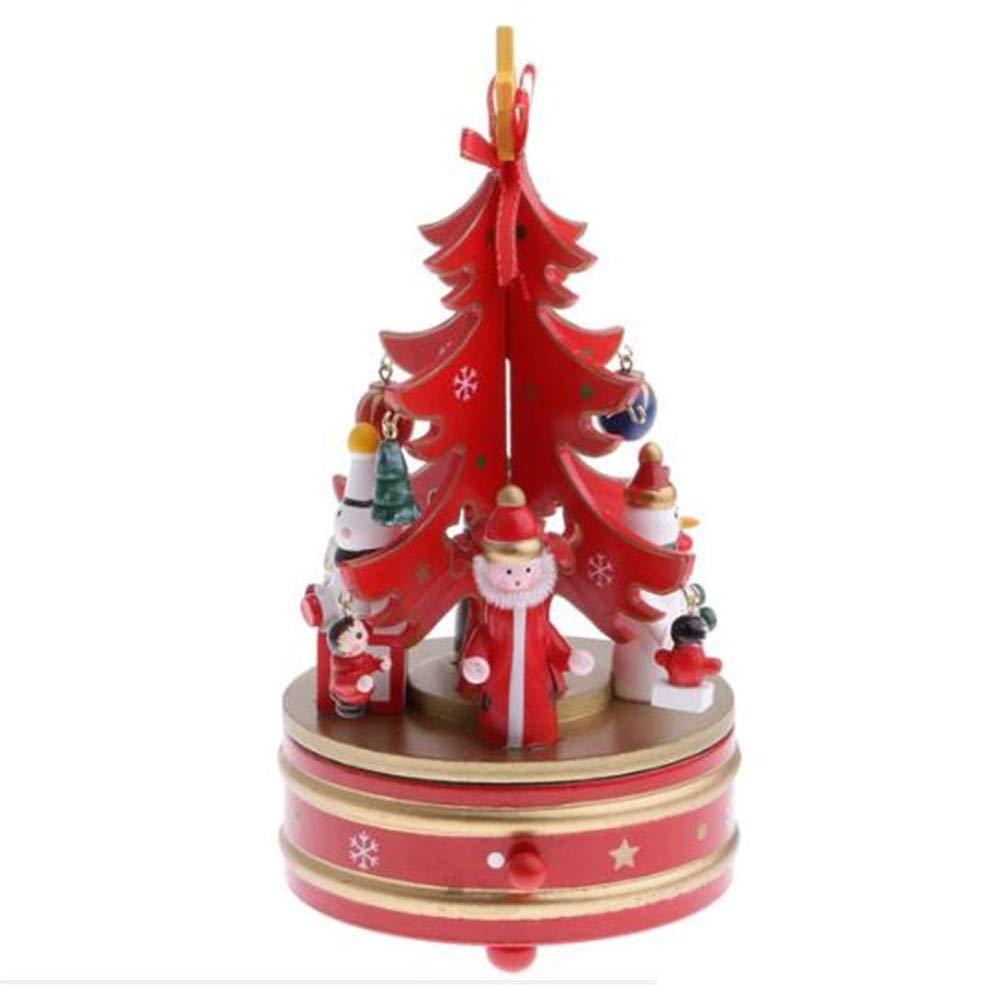 【サイズ交換OK】 Biscount クリスマス サンタクロース 回転式オルゴール サンタクロース 木製おもちゃ クリスマス B07JM612GK クリスマスツリー 時計仕掛け スノーマン 回転 オルゴールボックス B07JM612GK, チトセシ:5c035b46 --- arcego.dominiotemporario.com