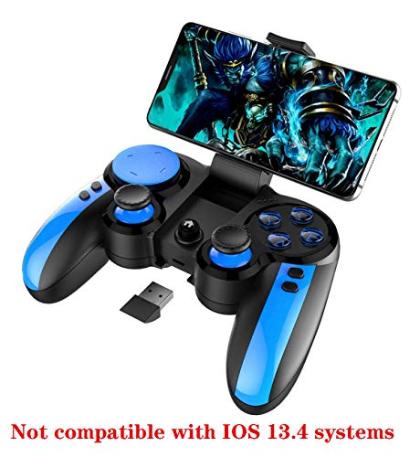 PG-9090 Wireless 4.0 +2.4G Gamepad Controller for Samsung Galaxy S10/S10+ /S20 /P40 P30 LG VIVO Oppo MI Mate Android Mobile Smartphone Tablet (Android 6.0 Higher System)