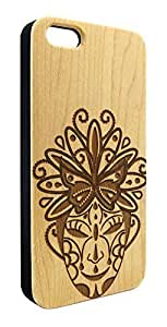 Genuine Maple Wood Organic Decorative Mask Snap-On Cover Hard Case for iPhone 5C