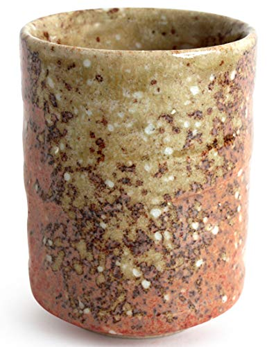 Mino ware Japanese Pottery Yunomi Chawan Tea Cup Iga Red Bronze Orange & Ocher made in Japan (Japan Import) RSY013 ()
