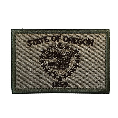 State War Patch (SpaceAuto Oregon State Flag Tactical Morale Patch Coyote)