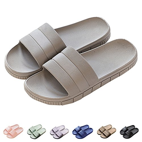 Salle De Plage Décontractées Couples Chaussures Hommes Gris amp; Chaussons Antidérapantes Femme Pantoufles D'été Sandales Bain qxB787