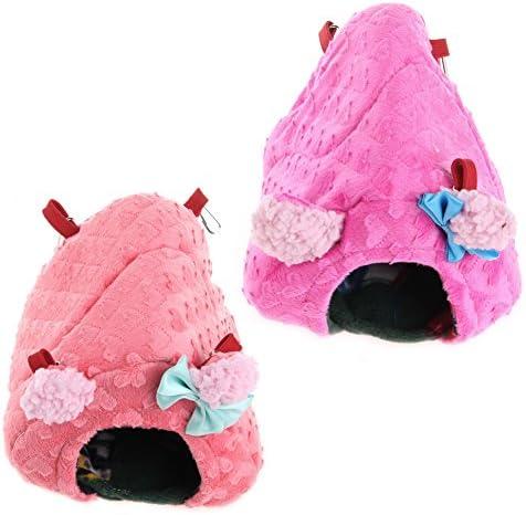 bluederst 1ピースハンモックグッズ、冬暖かいぬいぐるみハンモックスイングハンギングベッドネストハウス用かわいい小動物ペットウサギハムスターラット