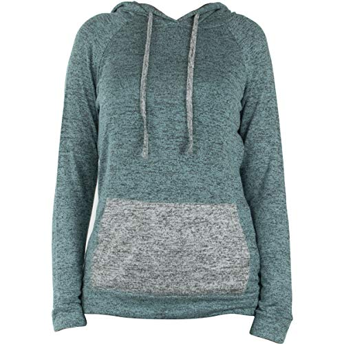 Hello Mello Carefree Threads Hooded Top, Long Sleeve with Tote Bag (Mint, Small 4-6)
