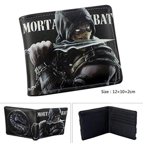 Outlander Gear Mortal Kombat Reptile Bi-fold Men's Boys Wallet in Gift Box (Mortal Kombat Cartoons)