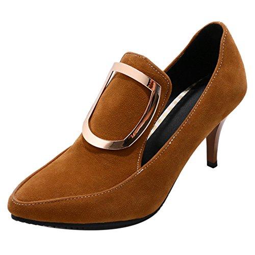 Brown de Tacon Zapatos Aguja Para Mujer RAZAMAZA 8qBYZwq