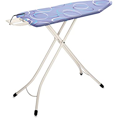 Brabantia Ironing Board with Solid Steam Iron Rest, Size C, Wide - Moving Circles Cover