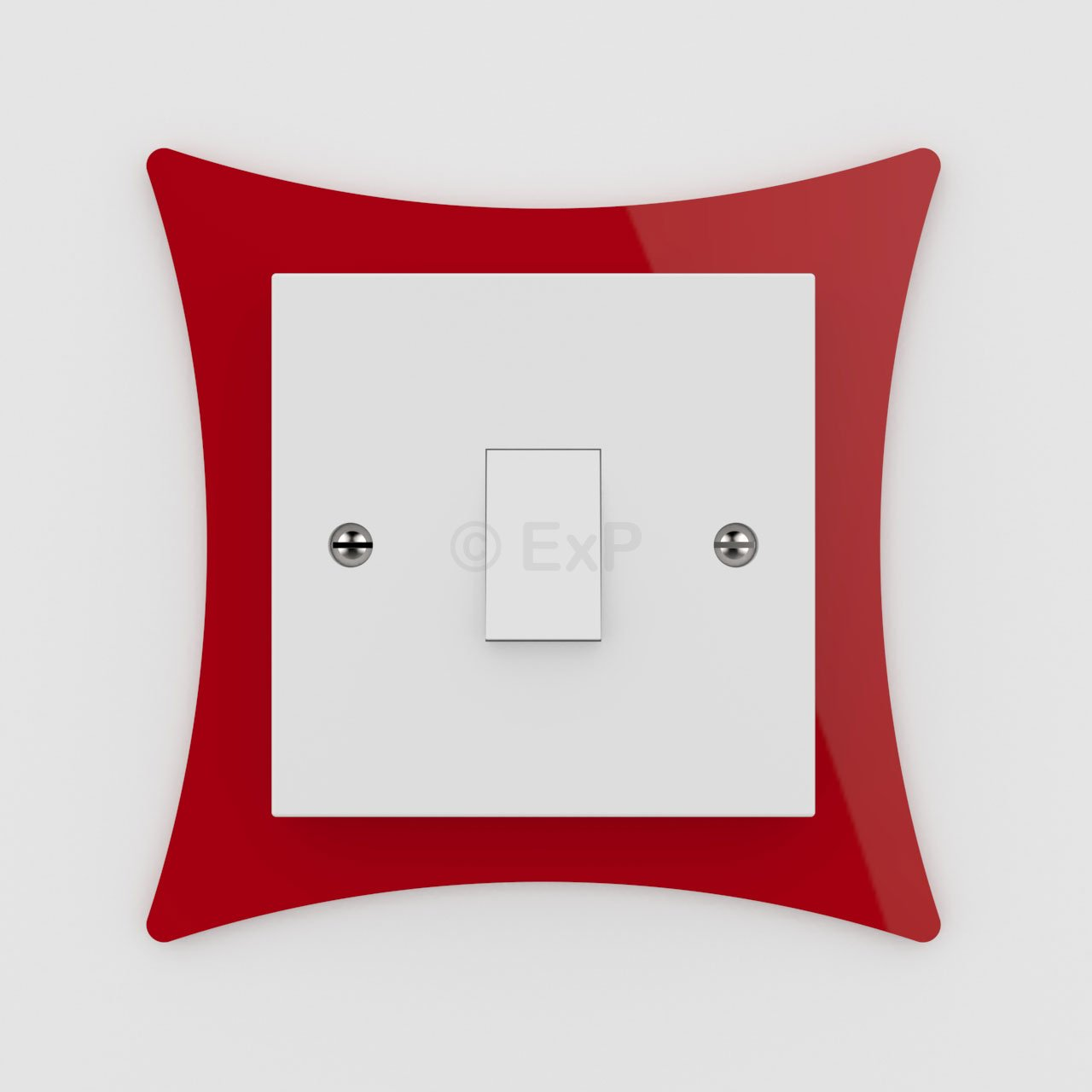 Single Light Switch or Plug Socket Back Plate Finger Surround Panel Lime (8 Colours Available) - Free Trolley Token Material Sample Included per Shipment Expression Products