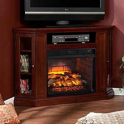 Stupendous Amazon Com Southern Enterprises Claremont Corner Fireplace Home Interior And Landscaping Ologienasavecom
