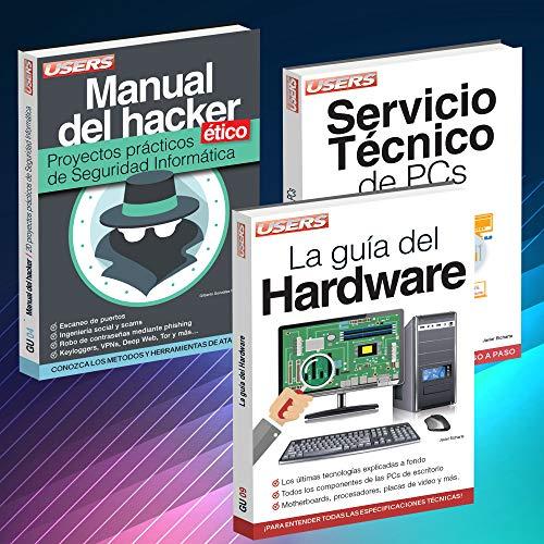 HARDWARE. Pack 3 Libros Manual del Hacker Ético; Servicio Técnico de PCs; La Guía del Hardware.  [Staff Users] (Tapa Blanda)