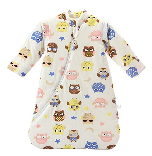 cad09566d8 LETTAS Unisex Baby Cotton Removable Long Sleeve Zip up Sleeping Bag ...