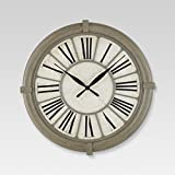 Cheap Threshold Antique Style Decorative Clock Aged Gray