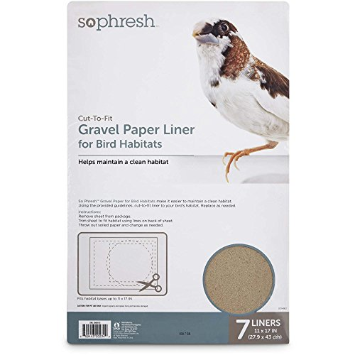 "51DG95rHf1L - So Phresh Gravel Paper Liner for Bird Habitats, 11"" X 17"", 7 Count"