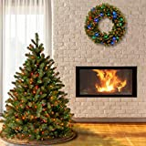 National Tree Feel Real Downswept Douglas Fir Tree, 4.5-FEET, With 450 Multicolor Lights
