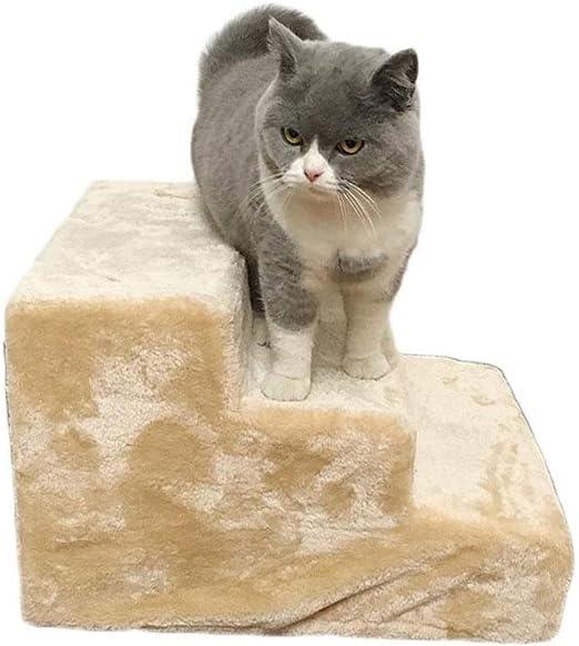 LLHYOO Escaleras para Mascotas, escaleras para Perros Pasos del Gato a la Cama Sofá Escalera de Peluche Alfombrillas para Perros Gatos y Perros Universal Extraíble y Lavable Pet: Amazon.es: Productos para mascotas