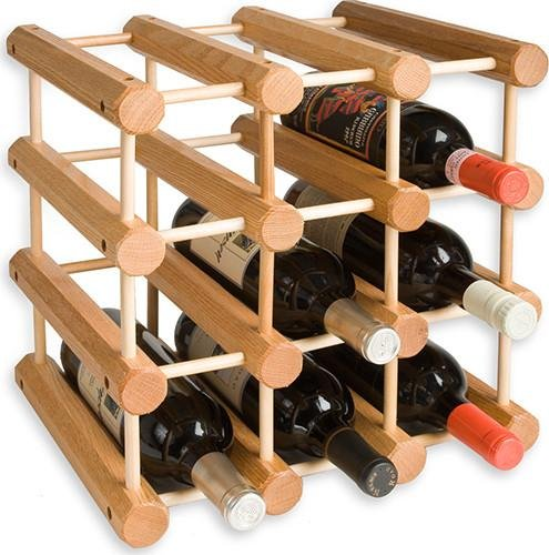 J.K. Adams Ash Wood 12-Bottle Wine Rack, Natural by J.K. Adams