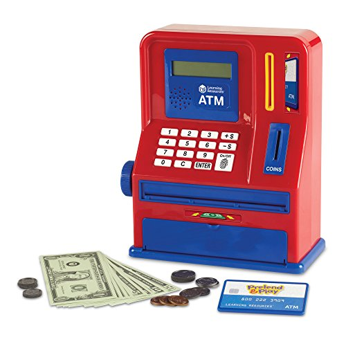 Learning Resources Teaching ATM Bank, Blue & Red, 32 Pieces ()