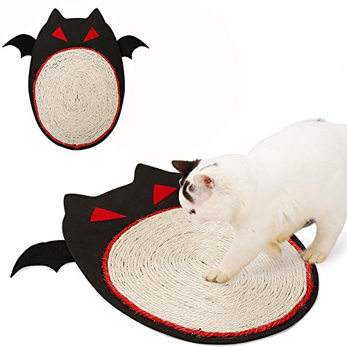Halloween Bat Design Natural Sisal Cat Scrather Cat Kitty Scrathing Mat Pet Toy Home Furniture Protection by Morezi