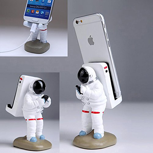 GOODKSSOP Unique Astronaut Style Solid Resin Durable Desktop Stand Holder Bracket Desk Mount Universal For iPhone X 7 8 Plus Samsung S7 edge S8 iPad Air Pro Mini and Other Cell Mobile Phone Tablet PC - Astronaut Stands