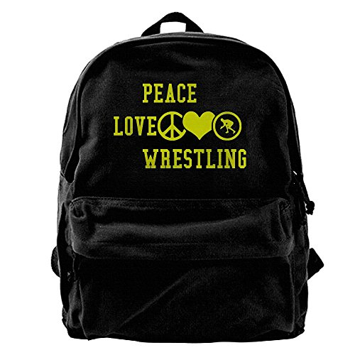 Peace Love Wrestling Packable Lightweight Travel Hiking Backpack Daypack For Picnics, Camping, Hiking by Fly-dreams