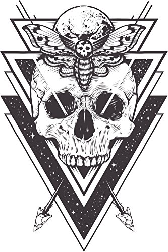 Beautiful Abstract Artistic Geometric Skull Moth Moon Cartoon #2 - Arrows Vinyl Sticker (4