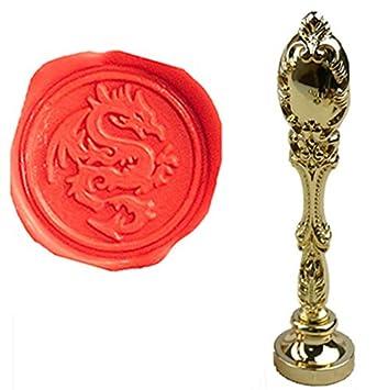 Mnyr Luxus Dragon Siegellack Siegel Stempel Vintage Custom Bild Logo Monogramm  Hochzeit Einladungen Versiegelung Mit Wachs
