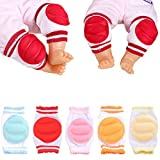 JOYEBUY 5 Pairs Baby Crawling Anti-Slip Knee pads