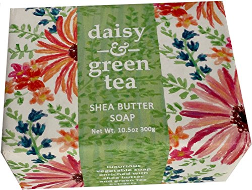 Greenwich Bay Trading Company Shea Butter Bar Soap Luxurious Spa Bath Cleanser Single 10.5 Ounce Block - Daisy Green ()