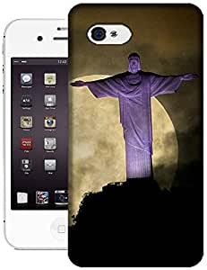 Sangu Christ The Redeemer Statue Moon TPU Case / Cover for iphone 4 / 4s - Style10