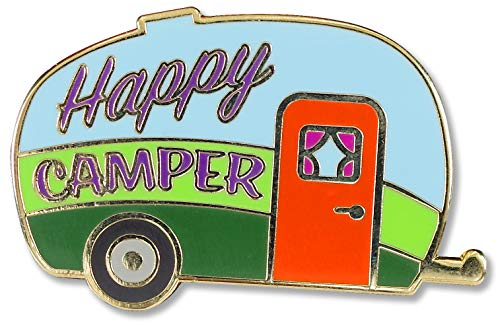 Happy Camper Hard Enamel Pin (Cloisonne Pin)