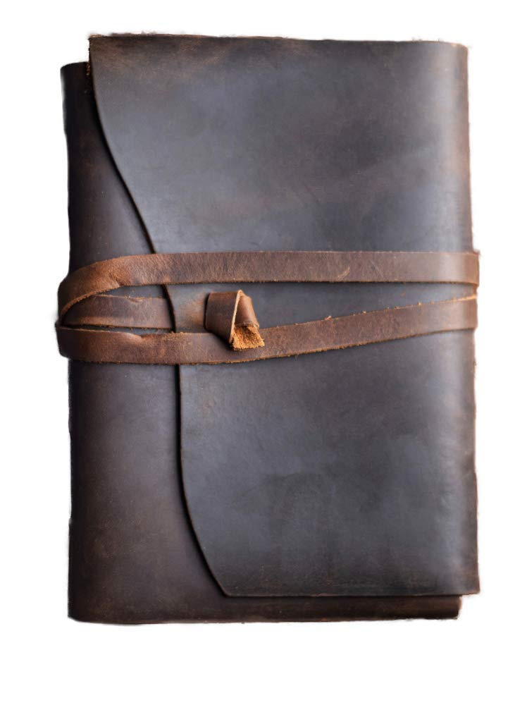 Ricky's Handmade Bound Personal Leather Journal/Diary-Notebook/Sketchbook to write in. Great gift for Men, Boys, Women, Girls, and Kids- Small Journal Ideal for Travel Writing and Photo Journaling