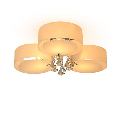 3 lámparas Moderno contemporáneo Lámpara de techo de cristal Lámparas de techo empotradas Lámparas de techo para el hogar (3xE27 MAX 40W, ...