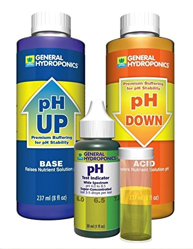 1 Set GH pH Up Down General Hydroponics Advanced Chemical Liquid Control Combo Acid Alkaline Spa Pool Pond Fish Aquarium Tank Saltwater Hydro Pure Solution Kit Optimum Popular Volume 8 -