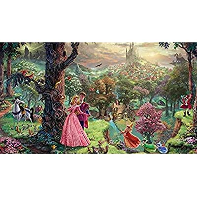 Ceaco Disney The Disney Collection 4 in 1 Multipack Sleeping Beauty, Mickey & Minnie Mouse, Snow White & Seven Dwarfs, and Cinderella Jigsaw Puzzles, (4) 500 Pieces: Toys & Games