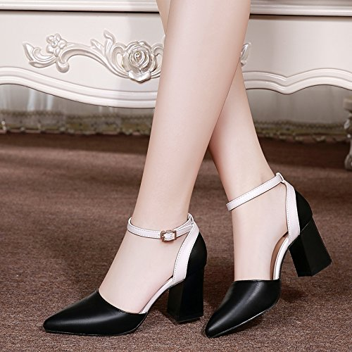 Autumn Heel High Black Word Female Rough Single Shoes Yukun With Shoes High Women'S Female Buckle heels wx0XFdZqF