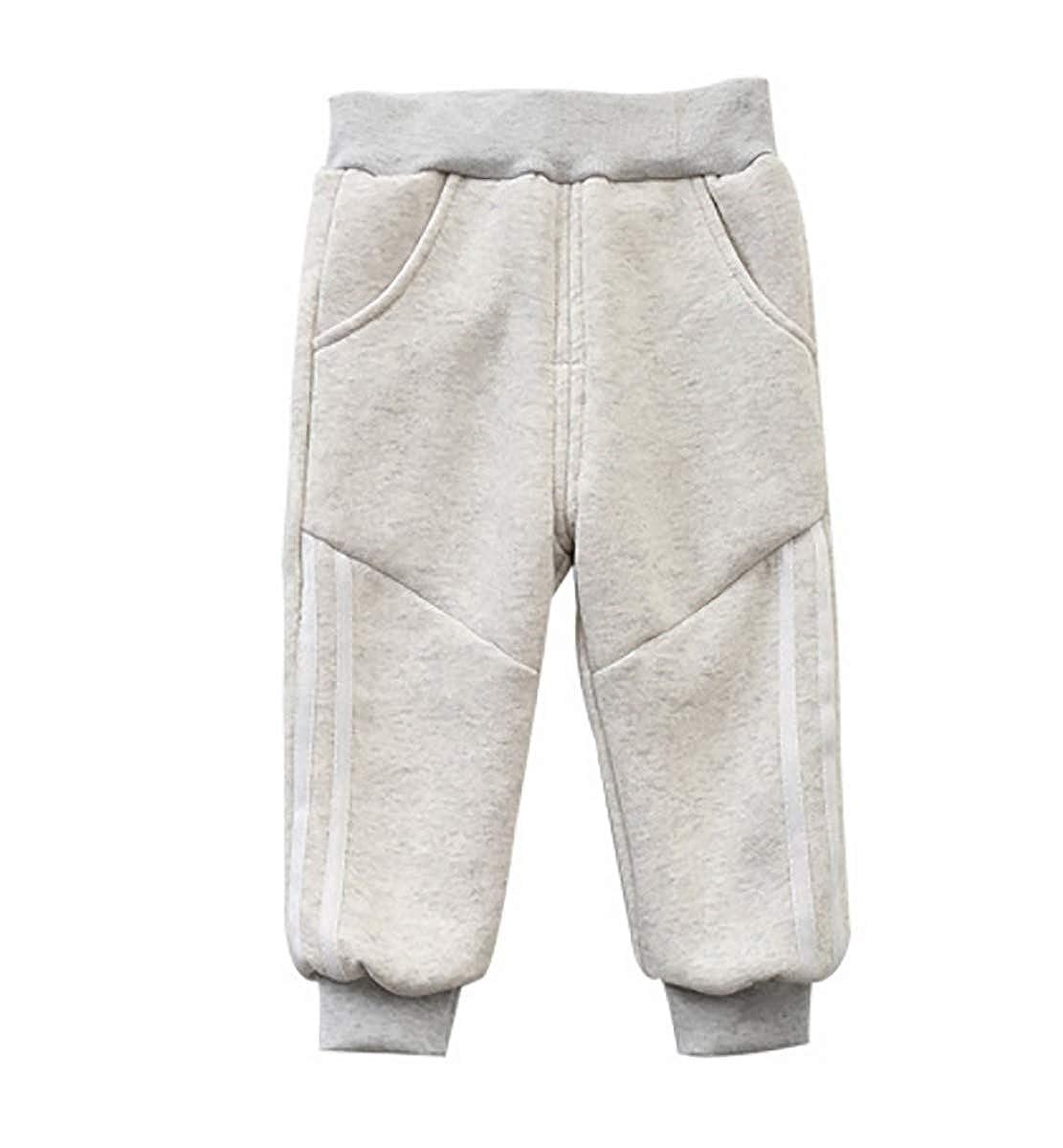 KLUME Pantaloni Imbottiti Invernali Pantaloni in Cotone per Bambini Pantaloni per Bambini in Velluto Plus